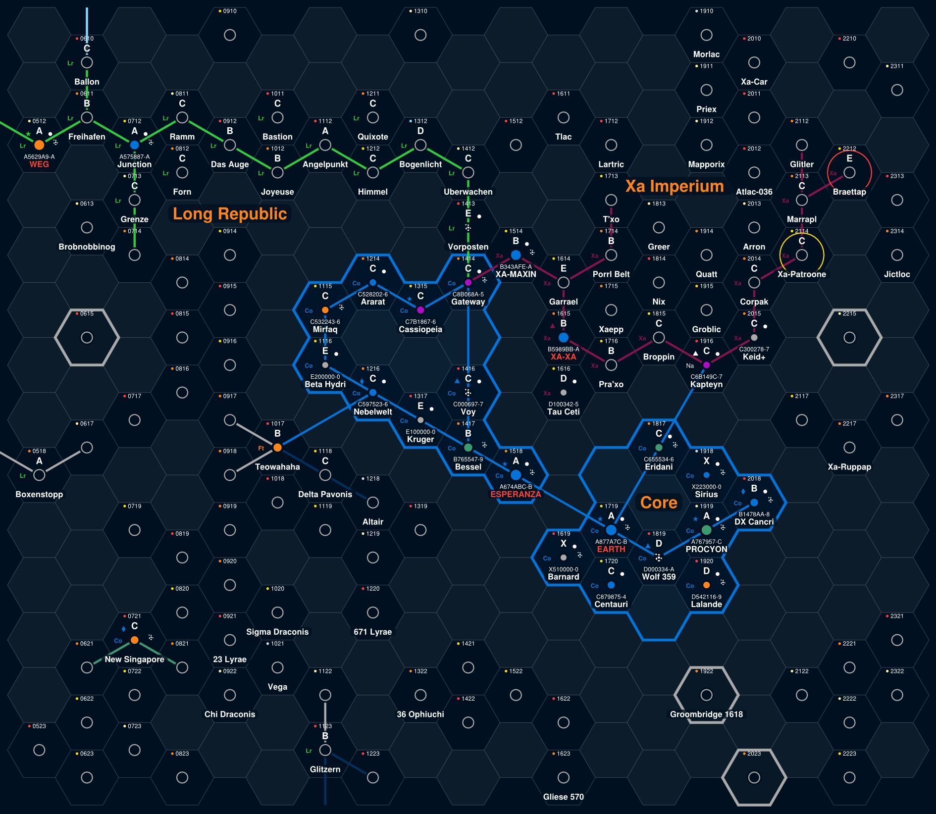 Near space astrogation charts  : traveller